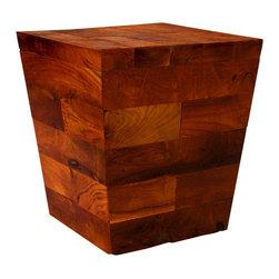 Groovystuff - Groovystuff Pyramid Kodiak Side Table in Honey - Features: