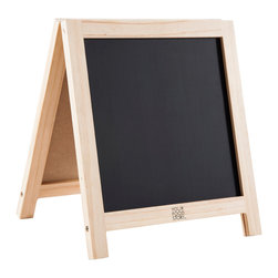 Your Food Story - Custom Magnetic Easel For Children - We've made this double sided magnetic chalkboard easel the perfect size to proudly display the menu of the day, new foods tried, group foods by color, or wherever your imagination takes you!
