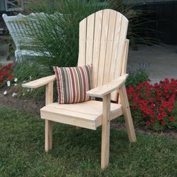A & L Furniture Yellow Pine High Yellow Pine Adirondack Chair