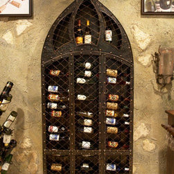 Wrought Iron Wine Rack - 42 Bottle -