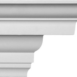 uDecor - CM-1170 Crown Molding - Crown molding is manufactured with a dense architectural polyurethane compound (not Styrofoam) that allows it to be semi-flexible and 100% waterproof. This molding is delivered pre-primed for paint. It is installed with architectural adhesive and/or finish nails. It can also be finished with caulk, spackle and your choice of paint, just like wood or MDF. A major advantage of polyurethane is that it will not expand, constrict or warp over time with changes in temperature or humidity. It's safe to install in rooms with the presence of moisture like bathrooms and kitchens. This product will not encourage the growth of mold or mildew, and it will never rot.