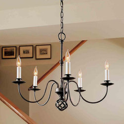 North Simple 5 Candles Iron Art Chandelier -