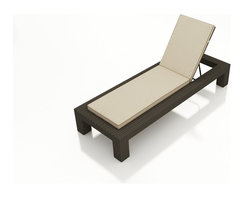 Forever Patio - Hampton Modern Adjustable Chaise Lounge, Chocolate Wicker and Beige Cushions - Whether you are pool side, sea side or simply just outside, you will love relaxing with the highly stylish Forever Patio Hampton Patio Wicker Single Adjustable Chaise Lounge with Cream Sunbrella cushions (SKU FP-HAM-ACL-CH-AC). The UV-protected, chocolate-colored wicker sports a flat woven design, creating a contemporary look with clean lines. Each strand of this outdoor wicker is made from High-Density Polyethylene (HDPE) and is infused with its rich color and UV-inhibitors that prevent cracking, chipping and fading ordinarily caused by sunlight. This outdoor chaise is supported by thick-gauged, powder-coated aluminum frames that make it more durable than natural rattan. This lounger includes a fade- and mildew-resistant Sunbrella cushion for added comfort in your outdoor space.