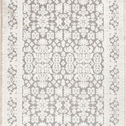 Jaipur - Transitional Fables 2'x3' Rectangle Gray-Gray Area Rug - The Fables area rug Collection offers an affordable assortment of Transitional stylings. Fables features a blend of natural Gray-Gray color. Machine Made of Viscose & Chenille the Fables Collection is an intriguing compliment to any decor.
