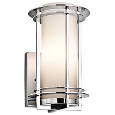 Contemporary Outdoor Wall Lights And Sconces Contemporary Kichler Pacific Edge Small Marine Grade Steel Outdoor Sconce