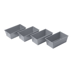 Chicago Metallic - Chicago Metallic Bakeware Nonstick Mini-Loaf Pans, Set of 4 - Loaf around as much as you like. These mini-loaf pans make it easy to turn out the perfect recipe every time, from sweet to savory. Heavy, aluminized steel that's designed for superior heat conduction ensures that everything you make is evenly baked.