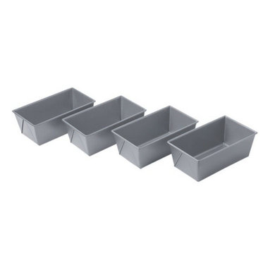 Chicago Metallic - Chicago Metallic Bakeware Non-Stick Mini Loaf Pans Set of 4 - Loaf around as much as you like. These mini-loaf pans make it easy to turn out the perfect recipe every time, from sweet to savory. Heavy, aluminized steel that's designed for superior heat conduction ensures that everything you make is evenly baked.