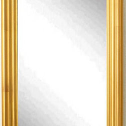 Rayne Mirrors - American Made Gold Steps Full Length Mirror - A dazzling frame in antique gold finish gives this tall mirror the look of a hand-carved piece. Its versatile waved design compliments both casual and formal style rooms.  Rayne's American Made standard of quality includes; metal reinforced frame corner  support, both vertical and horizontal hanging hardware installed and a manufacturers warranty.