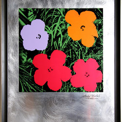 Andy Warhol, Flowers: Master American Contemporaries II, Silkscreen on Etched Al - Artist:  Andy Warhol, After, American (1928 - 1987)