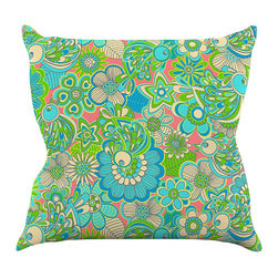 """Kess InHouse - Julia Grifol """"Welcome Birds to my Garden"""" Throw Pillow (18"""" x 18"""") - Rest among the art you love. Transform your hang out room into a hip gallery, that's also comfortable. With this pillow you can create an environment that reflects your unique style. It's amazing what a throw pillow can do to complete a room. (Kess InHouse is not responsible for pillow fighting that may occur as the result of creative stimulation)."""