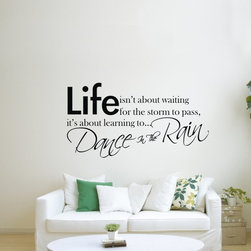 ColorfulHall Co., LTD - Wall Decals Quotes Life isn't about Waiting It's about Dance In The Rain - Wall Decals Quotes Life isn't about Waiting It's about Dance In The Rain