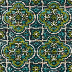 """Loloi Rugs - Loloi Rugs Aria Collection - Blue / Lime, 2'-3"""" x 3'-9"""" - Expressive and relaxed, stylish and fun. The Aria Collection from India has it all. Pretty paisley patterns, flourishing flowers, dreamy damasks and magical medallion designs are printed onto 100% recycled cotton Chindi for scatter rugs that are flirty and fashionable. Dressed in a palette of bold, saturated colors that take you from cool blues and pinks to warm spice tones and modern tropical hues, too, Aria rugs come in select scatter sizes that will accent choice spaces with flair."""