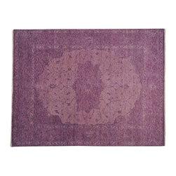 1800-Get-A-Rug - Purple Serapi Heriz Overdyed Oriental Rug 100% Wool Hand Knotted Sh19359 - Purple Serapi Heriz Overdyed Oriental Rug 100% Wool Hand Knotted Sh19359