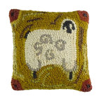 Homespice Decor - Homespice Decor Cleo Throw Pillow Multicolor - 211859 - Shop for Pillows from Hayneedle.com! Snuggle a lamb in your living room with the brightly crafted Homespice Decor Cleo Throw Pillow. Golden mustard ground and majestic sheep motif are done in traditional hooking work.About Homespice DecorProducing quality homemade products since 1998 Homespice Decor has become an industry leader in braided rugs (outdoor indoor wool cotton) and has expanded its line to include penny rugs rag rugs and its newest - Supernova rugs - which feature a swirling star braid design. Formerly known as J Quilts Company Homespice Decor shifted its focus from quilts to rugs pouring itself into the intricate details of braided rug craftsmanship. Homespice Decor is committed to providing affordable braided rugs of the highest quality in an abundance of sizes and styles.