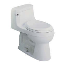 St Thomas Creations - St Thomas Creations 6006.128.01 White Palermo 1.28 GPF One Piece Chair Height El - One Piece Chair Height Elongated Bowl & Tank Toilet in White belongs to Palermo  Collection by St Thomas Creations Its unique and graceful shapes give Palermo a stately presence that lends an air of sophistication to any master bathroom or powder room. One of the most striking and imposing collections, the Palermo suite always makes quite an impression. This is elegance personified.  Toilet Bowl (1)