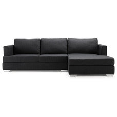 Modern Sectional Sofas Westminster Dark Grey Sectional Sofa (L)