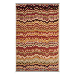 Safavieh - Celine Hand Tufted Rug, Red / Multi 5' X 8' - Construction Method: Hand Tufted. Country of Origin: India. Care Instructions: Vacuum Regularly To Prevent Dust And Crumbs From Settling Into The Roots Of The Fibers. Avoid Direct And Continuous Exposure To Sunlight. Use Rug Protectors Under The Legs Of Heavy Furniture To Avoid Flattening Piles. Do Not Pull Loose Ends; Clip Them With Scissors To Remove. Turn Carpet Occasionally To Equalize Wear. Remove Spills Immediately. Safavieh's artistry is vividly displayed in the Wyndham collection with designs ranging from contemporary florals to traditional global motifs. Each richly-hued rug is hand-tufted by master weavers in India of top quality wool. Several designs recreate the one-of-a-kind look of fashionable over-dyed antique rugs using a special multi-colored yarn that is meticulously colored using ages-old pot dyeing techniques. After the dye is carefully applied to each strand of wool, touches of organic viscose are added for soft silky luster as special highlights accents.