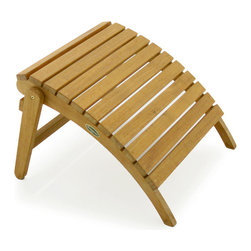 Westminster Teak Furniture - Westminster Teak Adirondack Footrest - A nifty Adirondack teak ottoman provides solid support from the knee through the heel and makes this footrest an ergonomic delight of relaxation. Paired with an Adirondack chair, your garden sit spot will be complete; all you will need is an umbrella drink and a good book or conversation.