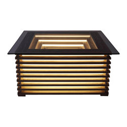 EcoFirstArt - SQILL Illuminating Coffee Table - Table manners matter. This illuminated coffee table with glass top not only makes a magnificent statement whether lit or not, it graciously moves wherever you like because it's completely cordless.