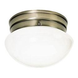 "Nuvo Lighting - Nuvo Lighting 77/921 Single Light 8"" Flush Mount Ceiling Fixture - Nuvo Lighting 77/921 Single Light 8"" Flush Mount Ceiling Fixture with Small White Mushroom ShadeNuvo Lighting 77/921 Features:"