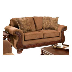Chelsea Home Furniture - Chelsea Home Jefferson Loveseat in Balvenie Tobacco - Isle Tobacco Pillows - Style traditional , mechanism or special decorative features includes toss pillows as shown, fabric swatch fabric samples available by mail, cover choices balvenie tobacco isle tobacco pillows 2, seating comfort medium, frame construction the majority of the frames are constructed with all solid kiln dried hardwood the remaining frames consist of solid kiln dried hardwood and engineered wood products Jefferson loveseat in balvenie tobacco - isle tobacco pillows belongs to the Chelsea Home Furniture collection .