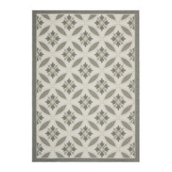 Safavieh - Safavieh Courtyard Rug with Light Grey / Anthracite X-5-12A87-4487YC - Safavieh takes classic beauty outside of the home with the launch of their Courtyard Collection. Made in Turkey with enhanced polypropylene for extra durability, these rugs are suitable for anywhere inside or outside of the house. To achieve more intrica