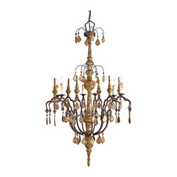 Kathy Kuo Home - Dover Distressed Silver Leaf 6 Light Wrought Iron Wood Chandelier - Evoking a chic, distressed - never shabby-  attitude this silver leaf finished chandelier delivers a sophisticated take on French Country lighting.  From the final bottom to the whimsical branches at its crown, this piece creates character and beautiful light with ease.