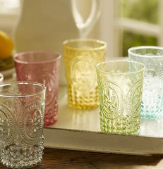 traditional glassware by Pottery Barn