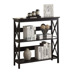 Convenience Concepts - Convenience Concepts Shelve X-030302 - The Convenience Concepts Oxford 3 Tier Bookcase is a great addition to any home office. Featuring 3 spacious shelves that allow plenty of space for anything from books to collectibles. The Oxford bookcases easily fit with most d&#233:cor, so you can enjoy it for years to come. Coordinating pieces are also available sold seperately.