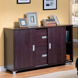 Coaster Cappuccino Credenza Clean Lines And