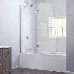 "DreamLine - DreamLine SHDR-3148586-01 Aqua Tub Door - DreamLine Aqua 48"" Frameless Hinged Tub Door, Clear 1/4"" Glass Door, Chrome Finish"