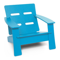 Loll Designs - Cabrio Lounge Chair, Sky Blue - Just looking at this inviting lounge chair starts to calm the nerves. You can let go of the day, as the ventilated seat back helps keep you cool. Relax in knowing the rest of the thoughtful design is doing its job.