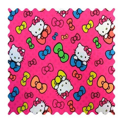 SheetWorld - SheetWorld Hello Kitty Bows Fabric - by The Yard - 100% cotton woven fabric. Approx. 280 thread count. Features a hello kitty bows print.