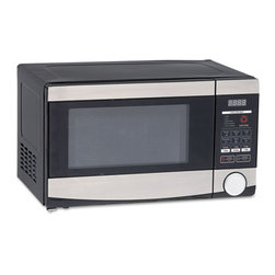 "Avanti - 0.7 Cu.ft Capacity Microwave Oven, 700 Watts, Stainless Steel and Black - Compact size microwave with 700 watts of power is perfect for any breakroom. Easy-to-use controls with seven auto-cook programs. Capacity (Volume): 0.7 cu ft; Turntable Diameter: 10""; Color(s): Stainless Steel; Black; Width: 17 1/2""."