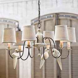 Regina Andrew Lighting Small Six-Light Rusted Arm Chandelier - This chandelier is the perfect combination of rustic and chic. I love it!