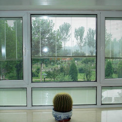 Insulated Glass with Manual Blinds - This blind is assembled and permanently sealed within the double glazing, separately and synchronously by magnetic handle. Being applied with aluminum alloy, PVC, wooden Windows and Doors and Glass Curtain Wall, and it can also be available in partitions combined with marble and so on.