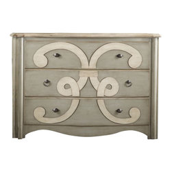 Hooker Furniture - Classique Scroll Chest - This is traditional, but with more than a touch of whimsy. A bold scroll motif and taupe finish create a true statement-maker for your personal haven.