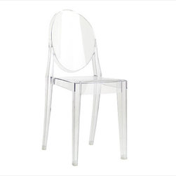 Kartell - Victoria Ghost Chair by Philippe Starck for Kartell | Design Within Reach - Philip Stark knew what he was doing when he designed these.