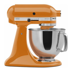 KitchenAid - KitchenAid RRK150TG Tangerine 5-quart Artisan Tilt-Head Stand Mixer (Refurbished - Ten speeds and a unique mixing action make this mixer from KitchenAid a welcome addition to any kitchen. This 5-quart mixer includes a power hub for additional attachments.