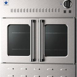 "BlueStar Wall Oven - Want a true chef's kitchen? This 30"" BlueStar gas wall oven is unusual with the commercial style French doors."