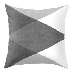 Inova Team - Contemporary Pillow Cover, 18x18 with Pillow Insert, Outdoor - Throw Pillow made from 100% spun polyester poplin fabric, a stylish statement that will liven up any room. Individually cut and sewn by hand, features a double-sided print and is finished with a concealed zipper for ease of care.