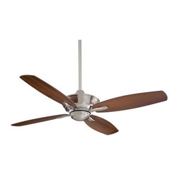 Minka-Aire - Minka-Aire New Era Brushed Nickel Ceiling Fan - F513-BN - This Ceiling Fan is part of the New Era Collection and has a Brushed Nickel Finish. It is Energy Star Compliant.