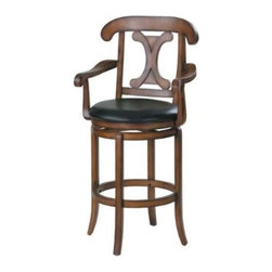 Acme High Back Swivel Stool - The Trimble Bar Stool will make a perfect addition to your indoor entertainment area.