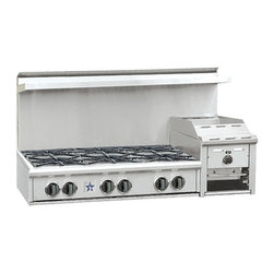 BlueStar Heritage Classic Range Top - This rangetop has a unique feature of a raised griddle and broiler in one — great for those who can't decide on which option they want and don't want to give up the burners.