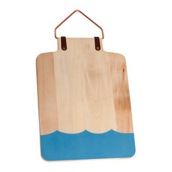 Lostine - Wave Cutting Board - Handcrafted from a sycamore tree in Pennsylvania, this cutting board is the perfect island kitchen accessory as it may be used for display, serving or chopping.