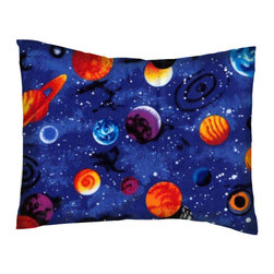 SheetWorld - SheetWorld Crib / Toddler Percale Baby Pillow Case - Planets - Made in USA - Baby or Toddler pillow case. Made of an all cotton percale fabric. Opening is in the back center and is envelope style for a secure closure.