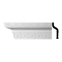 Renovators Supply - Cornice White Urethane Dalila - Cornice - Ornate | 11172 - Cornices: Made of virtually indestructible high-density urethane our cornice is cast from steel molds guaranteeing the highest quality on the market. High-precision steel molds provide a higher quality pattern consistency, design clarity and overall strength and durability. Lightweight they are easily installed with no special skills. Unlike plaster or wood urethane is resistant to cracking, warping or peeling.  Factory-primed our cornice is ready for finishing.  Measures 8 1/2 inch H x 96 inch L.