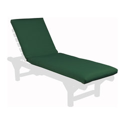 "Rustic Natural Cedar - Rustic Natural Cedar 1200N70 Green Chaise Lounge Cushion - Made from all-weather fade-resistant acrylic. Green Lounge Chair Cushion 76"" L x 23"" W x 3"" Thick. Hinged at 28.5"" from top."