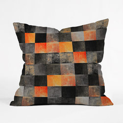 Sunset Villa Throw Pillow Cover - Play with color and pattern by dressing your pillows with this throw pillow cover. The bold colors and square-tiled design will stand out without overpowering your décor. Featuring a double-sided print with a concealed zipper, it's the perfect accent for your living room or bedroom.