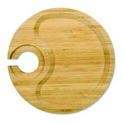 Franmara - Round Party Plate with Built-in Stemware Holder Made From Bamboo - This gorgeous Round Party Plate with Built-in Stemware Holder Made From Bamboo has the finest details and highest quality you will find anywhere! Round Party Plate with Built-in Stemware Holder Made From Bamboo is truly remarkable.